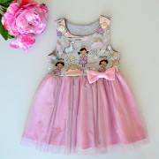 Dívčí šaty s tylovou sukní - Princezna