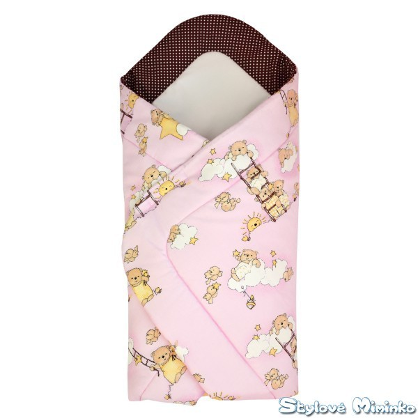 52a8905a56 Tania zavinovačka pro miminko - Medvídci v růžové