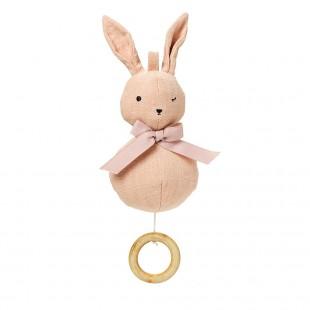 Hudební hračka Powder pink Bunny