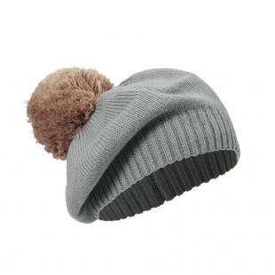Pletený baret Deco Nouveau (6-12 měsíců)