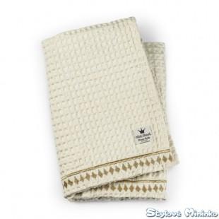 Bavlněná Wafl deka Vanilla White