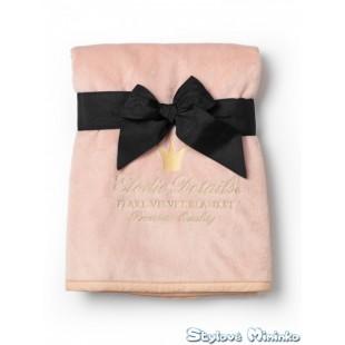 Deka sametová Powder Pink