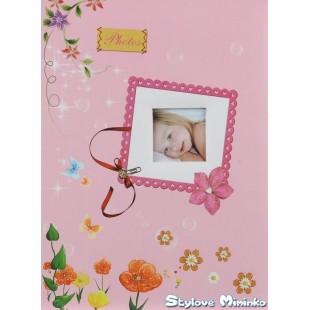 Fotoalbum Lovely Bubbles, 60 stran - růžová