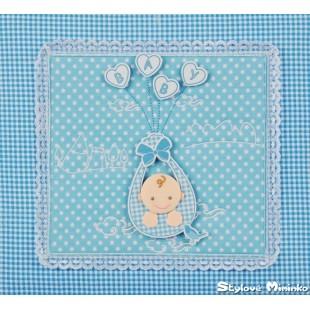 Fotoalum textilní Child 1 - 10x15cm, 200foto - modrá