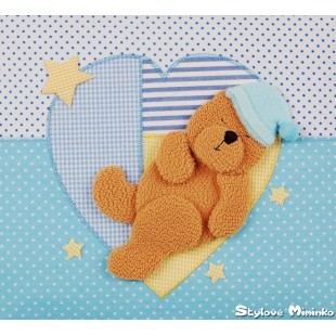 Fotoalum textilní Srdičko- 10x15cm, 200foto - modrá