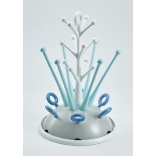 Odkapávač kojeneckých lahví šedá/modrá