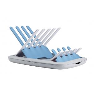Skládací odkapávač kojeneckých lahví šedá/modrá