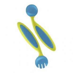 Boon - Ohýbací dětský příbor modro-zelený