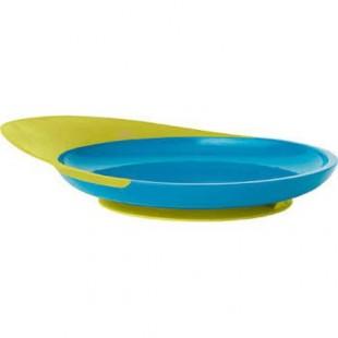 Boon - Talíř s přísavkou modro-zelený