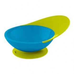Boon - Miska s přísavkou modro-zelená