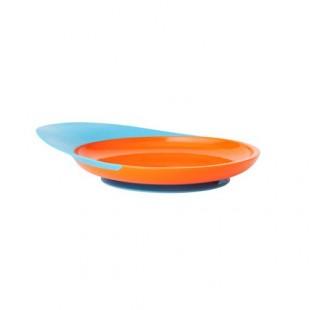 Boon - Talíř s přísavkou modro-oranžový
