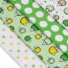 Látkové pleny - sada 4 kusů - zelení ježci